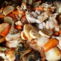 פרגיות עם ירקות בתנור